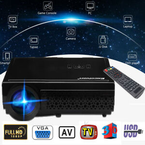 """Excelvan 5.8"""" TFT LCD 5000Lumens LED Projector FHD 1080P for Laptop  Smartphone"""
