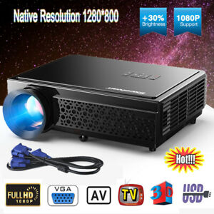 """Potable Home Theater Projector 5.8"""" TFT LCD HD 5000Lumens LED Projector 1280*800"""