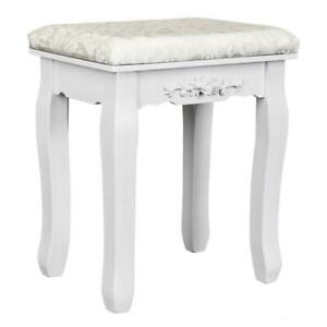 Vanity Stool Dressing Stool with Cushion and Wood Legs Dressing Chair
