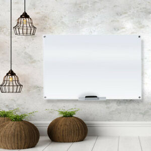 Glass Dry Erase Board Whiteboard for Office and Home 23 5/8 x 35 1/2 Inches