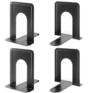 MaxGear Universal Economy Bookends Nonskid Heavy Duty Metal Book Ends Suppo