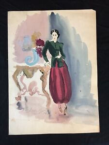 Original Pre Pop Art Fashion Drawing Signed Andy Warhol OUTSTANDING!