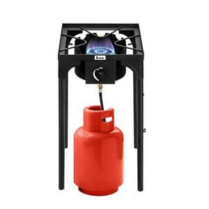 Portable Outdoor Stove Propane 1 Burner Cooking Gas Cooker BBQ Grill Camping US