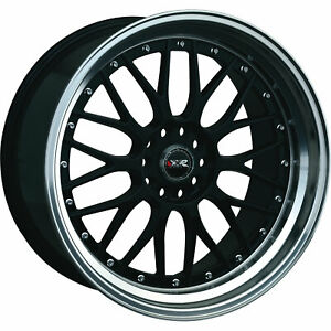 XXR 521 17x7 4x1004x114.3 (4x4.5) +38mm Black Wheels Rims 52177082N