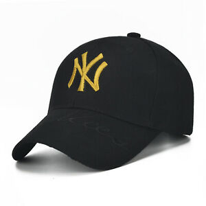 Men Women NY letter Baseball Cap Embroidery Black Hip Hop Bone Hat