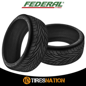 (2) New FEDERAL 595 265/35ZR18 93W Ultra High Performance Tires