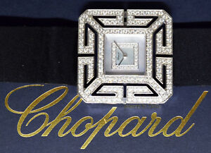 Chopard Joaillerie 18k White Gold MOP Diamond Ladies Watch Box & Papers 136974