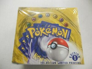 1999 Pokemon Base 1st Edition Booster Box (FACTORY SEALED) Blue First Edition
