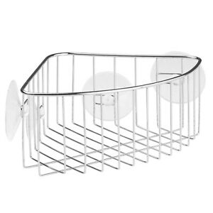 InterDesign Rondo Metal Wire Suction Bath Shower Caddy Corner Basket Stainless