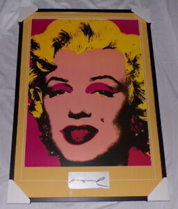 Andy Warhol Signed Framed 28x41