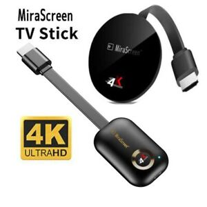 4K MiraScreen WiFi Display Receiver TV Stick Dongle DLNA Airplay Miracast HDMI