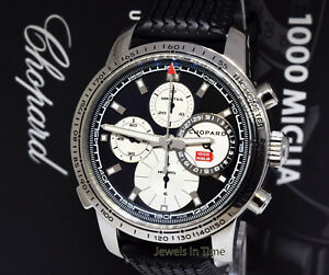 Chopard Mille Miglia Steel Rattrapante Chronograph 44mm Watch & Box 8995