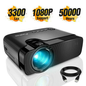 ELEPHAS 3300 Lux Portable Home Theater Mini Projector Support 1080P HD
