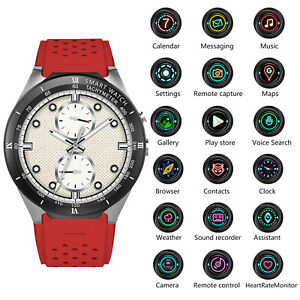 Bluetooth Smart Wrist Watch Phone 3G WIFI Heart Rate Monitor For iOS Android
