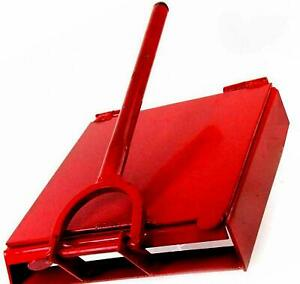 Made in Mexico Red Manual Flower/Corn All Metal Tortilla Maker Press 10x10 inch
