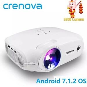 LED Projector For Full HD 4K*2K Video Projector Android 7.1.2 OS Home Cinema
