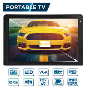 Portable TV Rechargeable 12