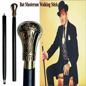 Bat Masterson Brass Handle Antique Style Victorian Cane Wooden Walking Stick $28.99