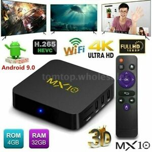 MX10 Quad-Core Android 9.0 4GB32GB DDR4 4K HDR WIFI Smart TV BOX Mini PC J0E1