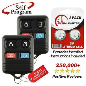 2 For 1999 2000 2001 2002 2003 2004 2005 2006 Ford Mustang Remote Car Key Fob