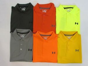 NEW MEN'S UNDER ARMOUR GOLF S S HEAT GEAR LOOSE FIT POLO SHIRT PICK SIZE $29.50