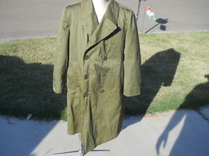Vintage Army Military N2393 FIELD JACKET COAT Olive Green Short Large With Liner $45.00