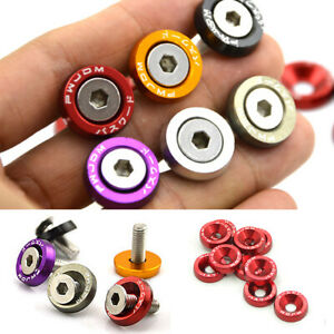 20PCS Car Styling Universal Anodized Aluminum Fender Washers M6x20 Steel Bolts