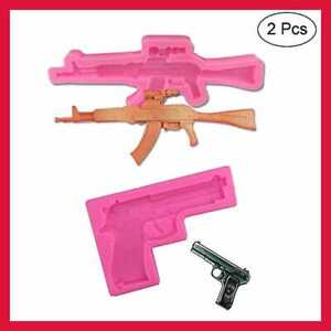2 Pack Gun Silicone Fondant Molds Candy CHOCOLATE Ice Resin Clay Making Cake DIY