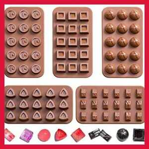 CHOCOLATE Molds Candy Making Silicone Mini Baking 5 Pack N BROWN 5Pack