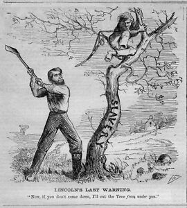 ABE LINCOLN CHOPPING DOWN SLAVERY TREE PROVISIONAL EMANCIPATION PROCLAMATION $95.00