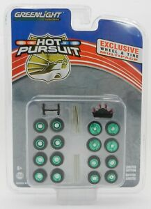 1:64 GreenLight *HOT PURSUIT POLICE* WHEEL LIGHT ACCESSORY PACK *GREEN MACHINE*
