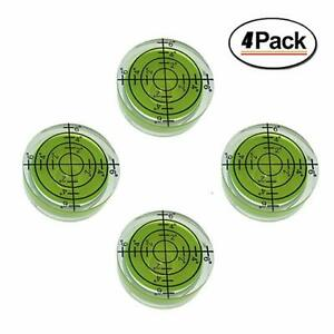 4 Pack Bubble Spirit Level Degree Mark, Use for Tripod, Phonograph, Turntable