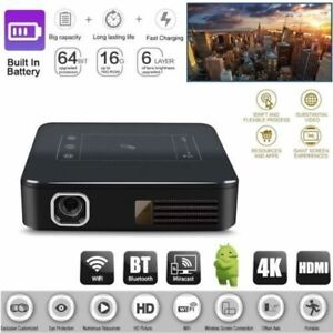 Mini Portable 4K .HDMI HD 1080P TV Home Theater Android Projector Wifi BT Cinema