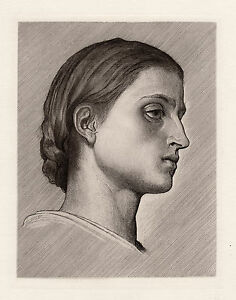 Charming 1800s Frederic LEIGHTON Etching