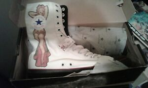 Sailor Jerry Pin Up Girl Flash Art White Converse Boots BRAND NEW!