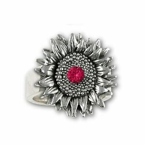 Sunflower Jewelry Sterling Silver Handmade Sunflower Ring  SFTX5-SR