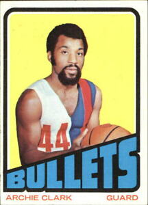 1972-73 Topps Baltimore Bullets Basketball Card #120 Archie Clark - EX-MT