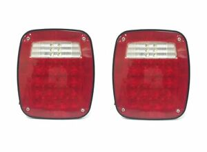 2 Pack Universal Square 12V Combination 38 LED Signal Tail Light Truck Trailer $44.99
