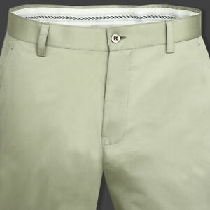 Mint Green Regular fit Cotton Chino with Double Fusing belt