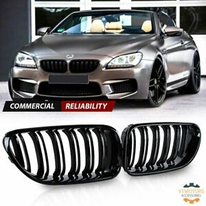 Gloss Black Front Kidney Grill Grille for 2012-2018 BMW F06 F12 F13 M6 6-Series