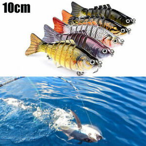 5PCS 7Segment Multi Jointed Fishing Lures Fishing Bait Crankbait Hooks Swimbait