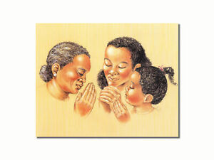 Three Generations of Black Women Praying Wall Picture 8x10 Art Print