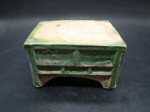Chinese Ming Dynasty (1368-1644) nice green glazed bedside table  u5893