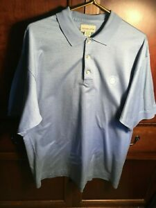 Cutter and Buck Mens Polo Shirt XL Blue Short Sleeve Extra Large Beverly Hills