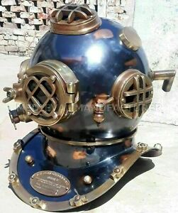 Antique 18quot; Diving vintage BOSTON MARK V U.S Navy Deep Sea Divers Helmet Replica $185.18