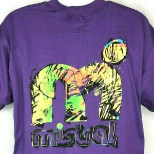 Mistral Windsurfing Day Glo Abstract Extreme Vtg T-Shirt XL Mens 1990s NOS USA