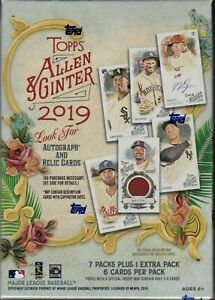 2019 Topps Allen and Ginter Baseball Factory Sealed 8 Pack Blaster Box