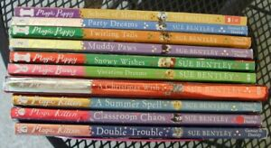 10 Sue Bentley AR Chapter books lot MAGIC Kitten Puppy Bunny Reindeer