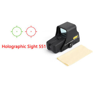 Red Green Dot Holographic Sight 551 Tactical Airsoft Scope Sight Brand New US