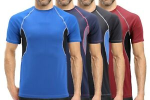 Mens Cool Quick Dry Gym Workout Sport Running Breathable Performance T shirt $9.99